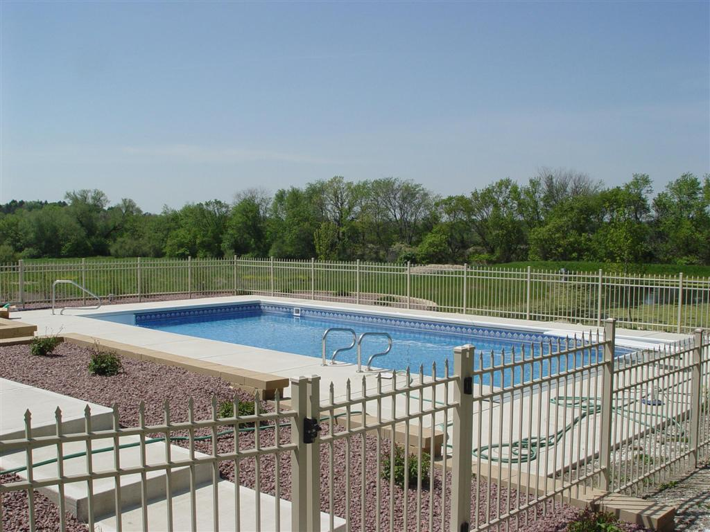 Cream Pool Fencing