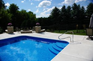 Custom Inground Pool Steps made of Concrete, Steel, or Polymer