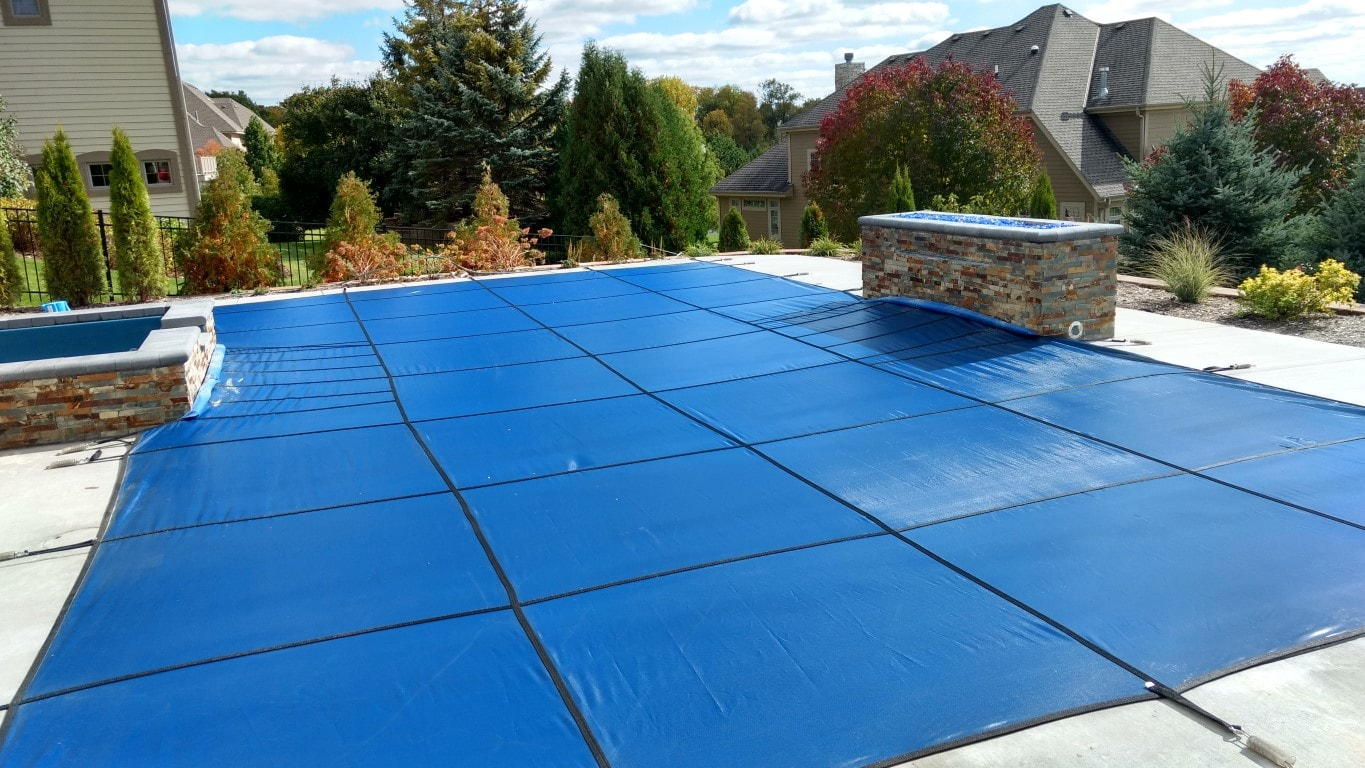 Pool Safety Cover Blue Hartland WI