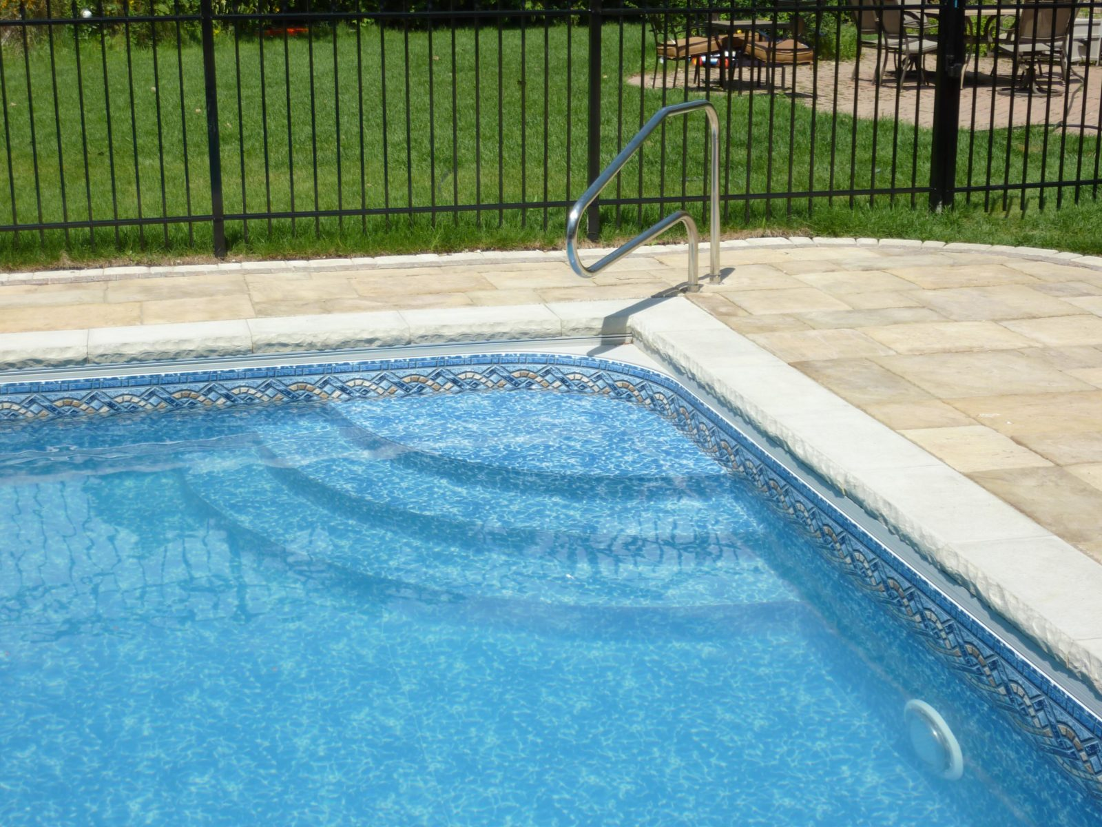 Radius Corner Custom Inground Pool Steps Delafield