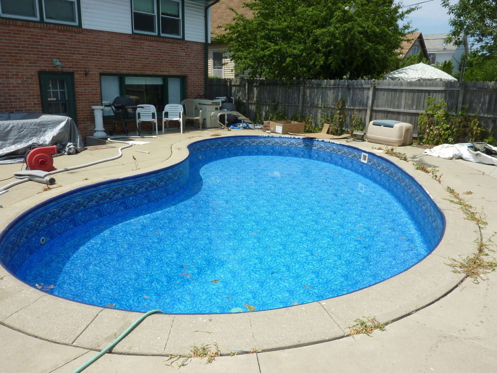 Curved Kidney Pool