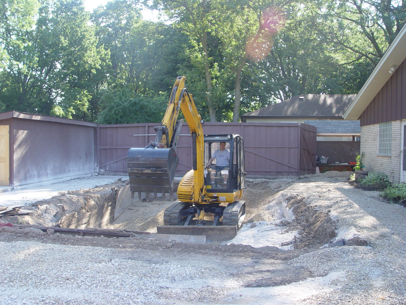 Excavation during a pool remodel